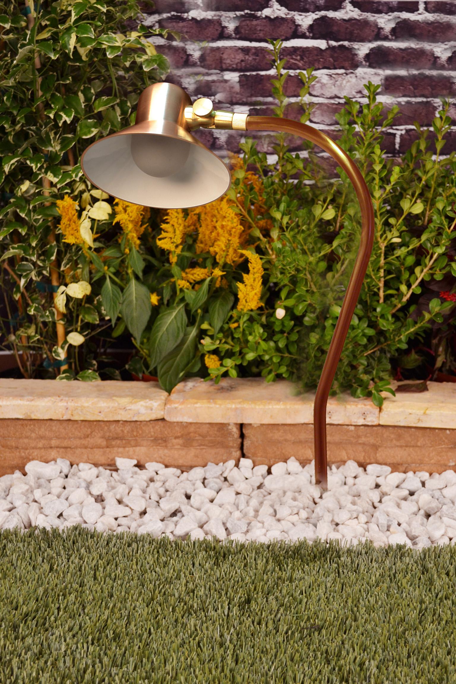 Canterbury 12 volt copper path light by unique lighting for Canterbury landscape design