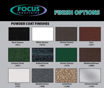 Focus powder coat options