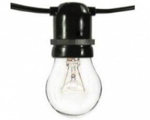 Commercial Grade Bistro String Lighting 12V BK E26 12   By The Foot